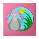 Spring Bunny Ceramic Tile