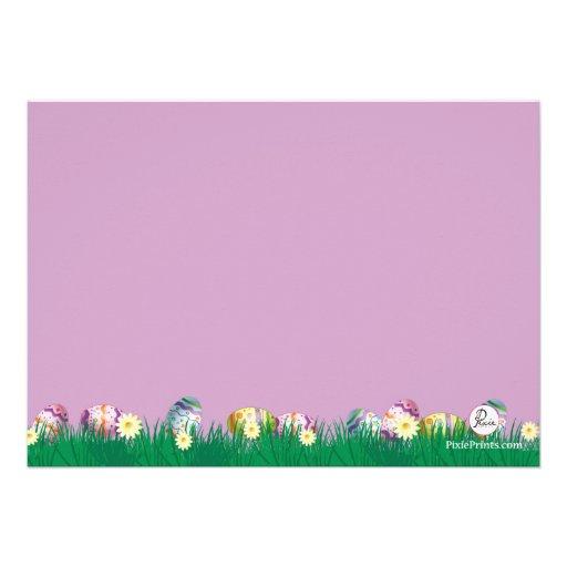 Spring Bunny Easter Card (back side)