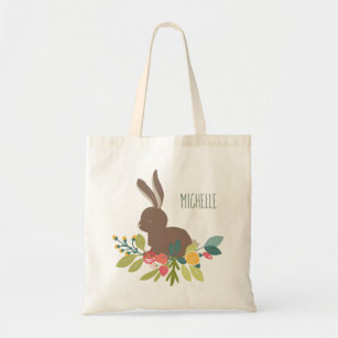 Springtime Tote Bag Every Bunny Welcome Tote Bag Shopping Bag Flowers Tote Easter Tote Bag Farmhouse Tote Bag