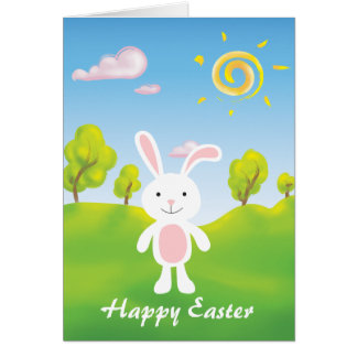 Spring Bunny Happy Easter Card