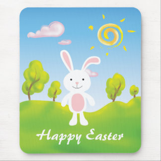 Spring Bunny Happy Easter Mousepad