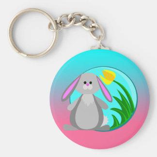 Spring Bunny Keychain