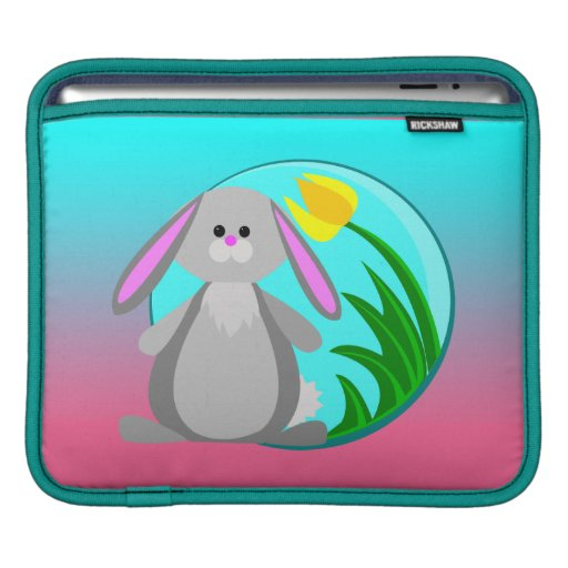 Spring Bunny Sleeve For iPads
