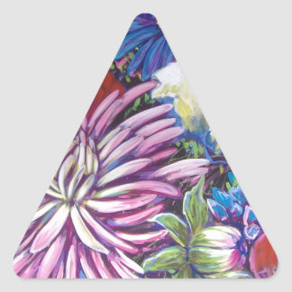 spring burst triangle sticker