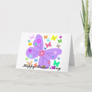 Spring Butterflies, Happy Mother's Day card card