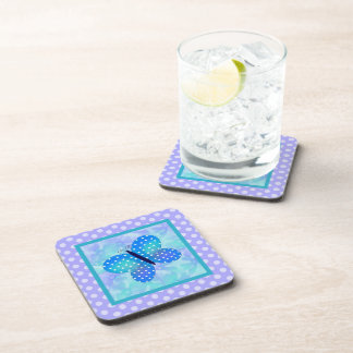 Spring Butterfly and Polka-dots Coaster Set