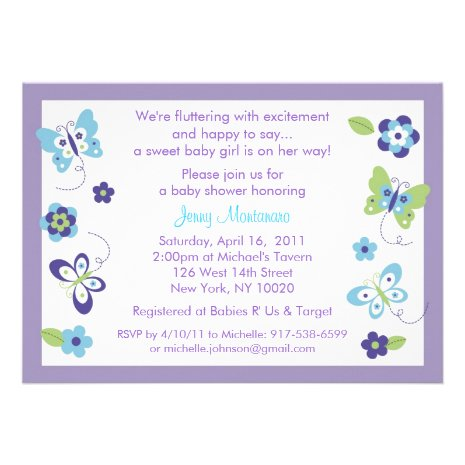16 beautiful butterfly baby shower invitations
