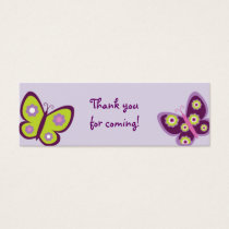 Spring Butterfly Baby Shower Party Favor Gift Tags