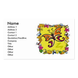 Spring Butterfly Business Cards