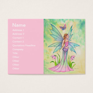 Spring Butterfly Fairy Fantasy Art Business Card