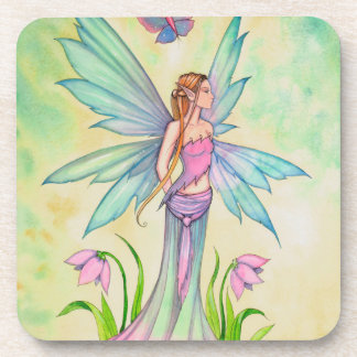 Spring Butterfly Fairy Fantasy Art Drink Coasters