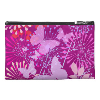 Spring Butterfly Garden Vibrant Purple Pink Girly Travel Accessory Bags