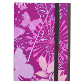 Spring Butterfly Garden Vibrant Purple Pink Girly iPad Air Covers
