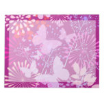 Spring Butterfly Garden Vibrant Purple Pink Girly Note Pads