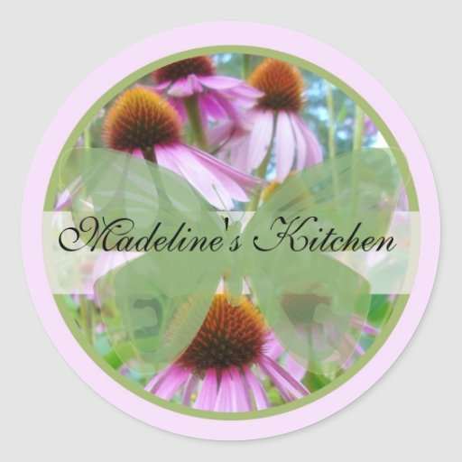 Spring Butterfly Label1 Classic Round Sticker