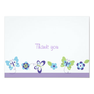 Spring Butterfly Thank You Note Cards Personalized Invites