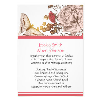 Spring Butterfly Wedding Invite