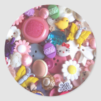 Spring Buttons Classic Round Sticker