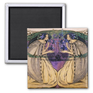 Spring by Frances Macdonald 2 Inch Square Magnet