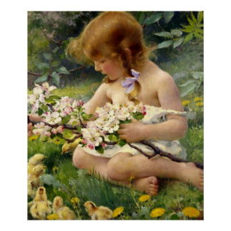 'Spring' by Franz Dvorak Poster