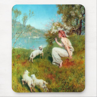 Spring by John Collier (1850-1934) Mouse Pad