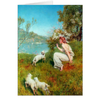 Spring By John Collier Greeting Card