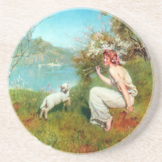Spring By John Collier Beverage Coasters