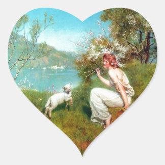 Spring By John Collier Heart Sticker