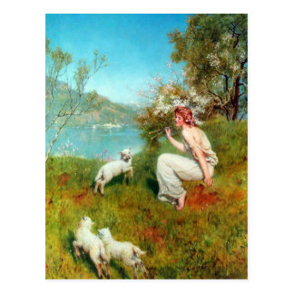 Spring By John Collier Postcard