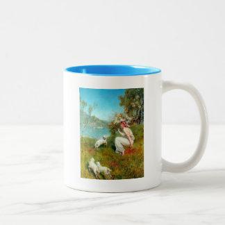 Spring By John Collier Two-Tone Coffee Mug
