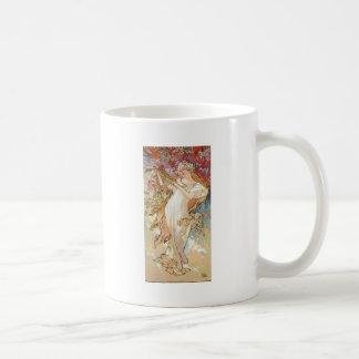 Spring by Mucha Classic White Coffee Mug