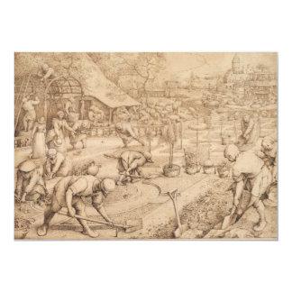 Spring by Pieter Bruegel the Elder Card