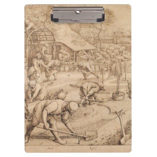 Spring by Pieter Bruegel the Elder Clipboard