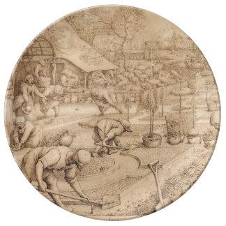 Spring by Pieter Bruegel the Elder Dinner Plate