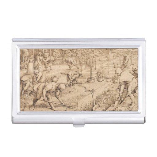 Spring by Pieter Bruegel the Elder Business Card Holder