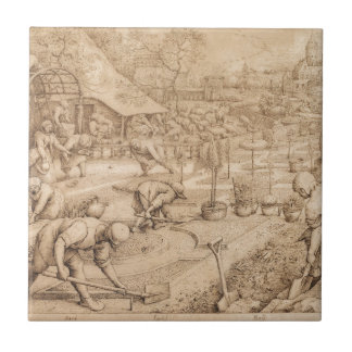 Spring by Pieter Bruegel the Elder Tile