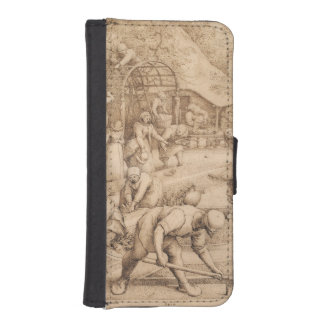 Spring by Pieter Bruegel the Elder Wallet Phone Case For iPhone SE/5/5s
