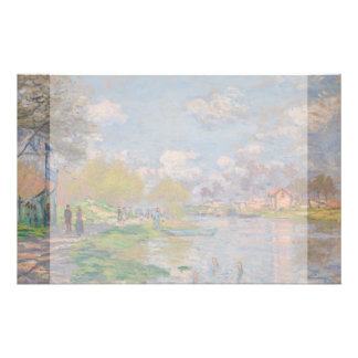 Spring by the Seine by Claude Monet Flyer