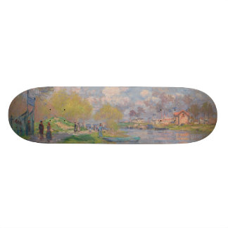 Spring by the Seine by Claude Monet Skateboard Deck