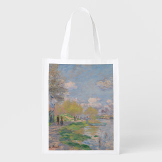 Spring by the Seine by Claude Monet Grocery Bag