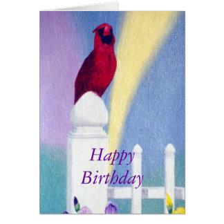 Spring Cardinal Card