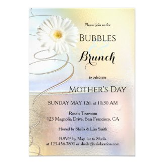 Spring Celebration Bubbles and Brunch Invitation