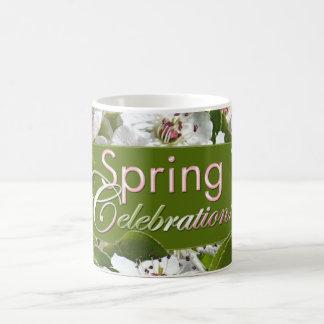 Spring Celebration White Blossoms Mug