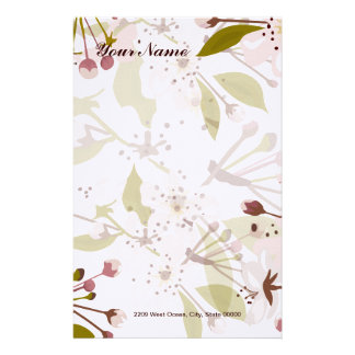 Spring Cherry Blossom Stationary Stationery
