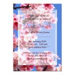 "Spring Cherry Blossoms Bridal Shower Invitation 5"" X 7"" Invitation Card"