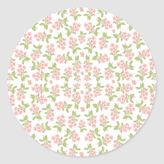 Spring Cherry Blossoms Classic Round Sticker