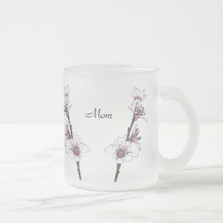 Spring Cherry Blossoms for Mom 10 Oz Frosted Glass Coffee Mug