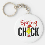 Spring Chick Key Chains