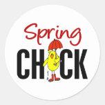 Spring Chick Round Sticker