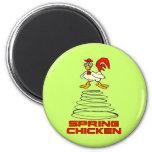 Spring Chicken 2 Inch Round Magnet